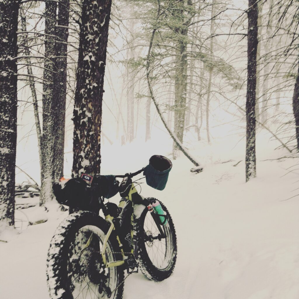 Winter cycling and fat biking in Wyoming