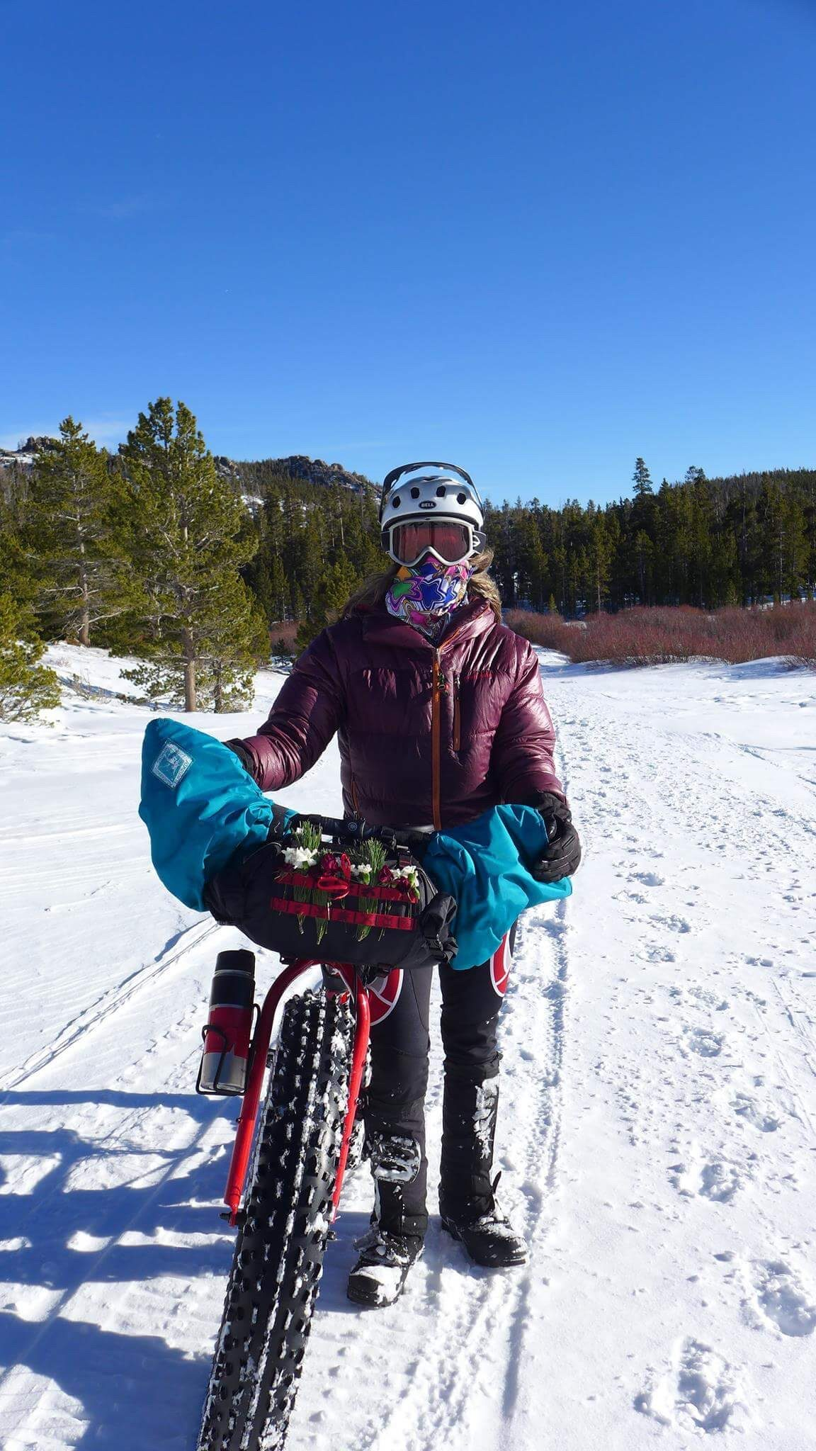 Winter cycling and fat biking in Wyoming.