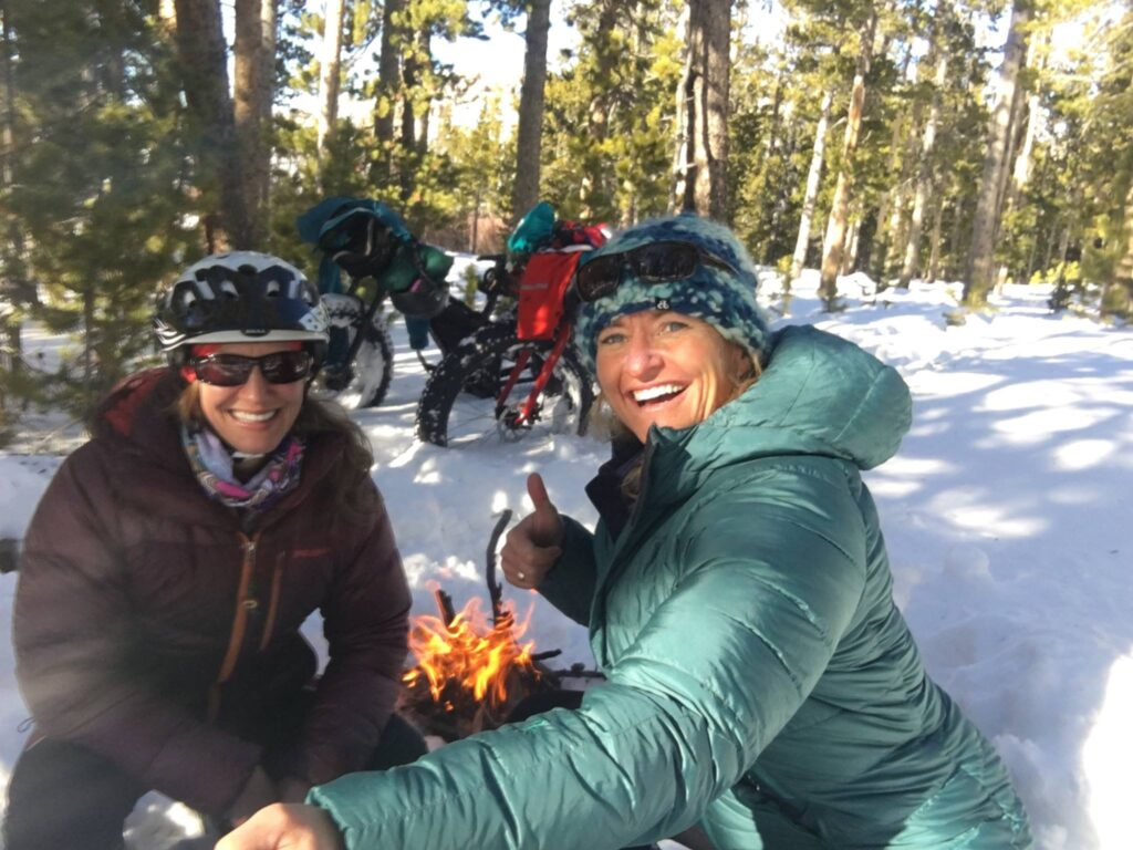 Winter fat biking and winter cycling in Wyoming.