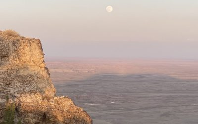 Hiking the Oregon Buttes Under a Full Moon