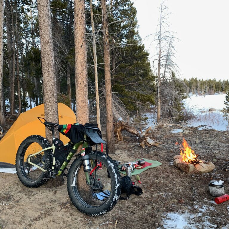 Winter bikepacking in the Wind River Mountains of Wyoming with fat bikes.  My Mukluk.
