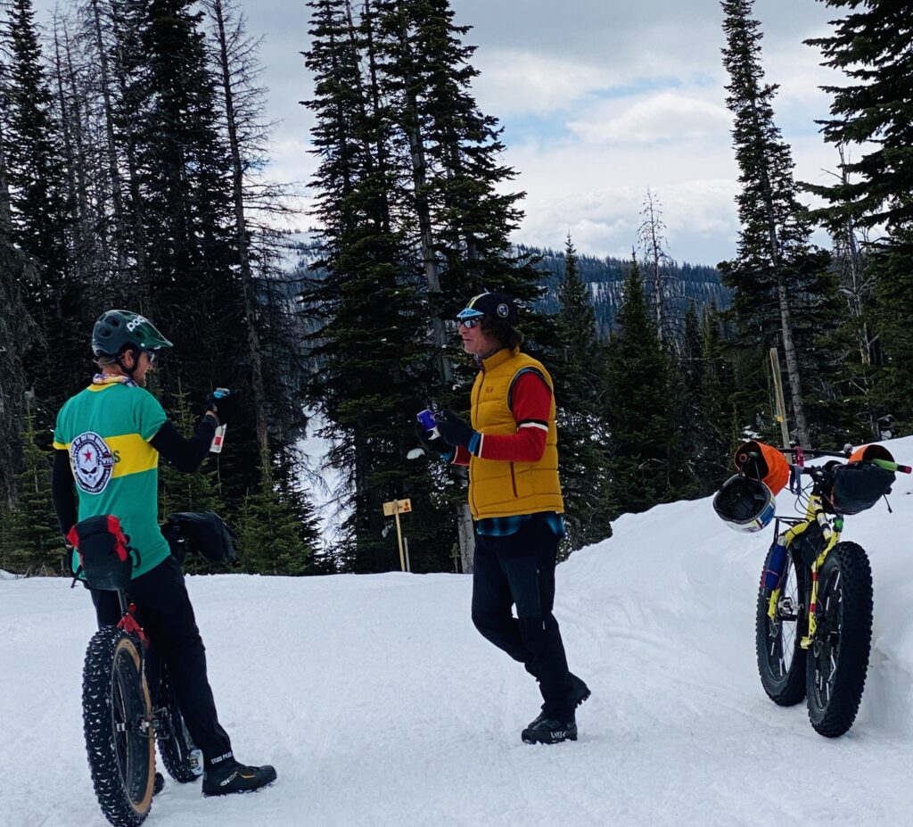 Fatbike race the Togwotee Winter Classic in Wyoming