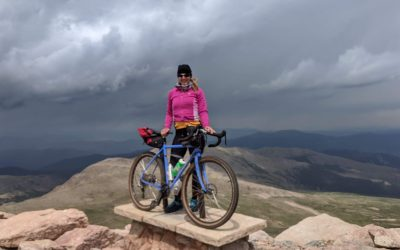 Cycling to the Top of Mt. Evans at 14,262 feet