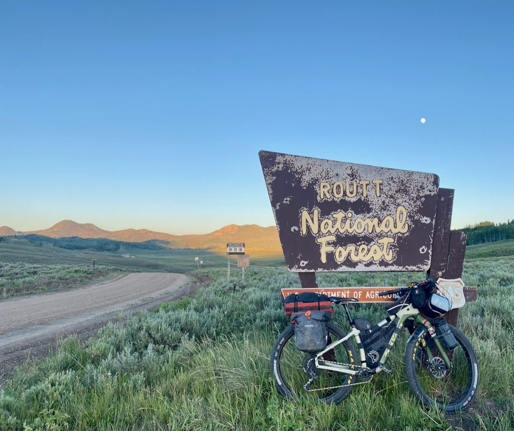 Looking for a camp site on the great divide mountain bike trail.