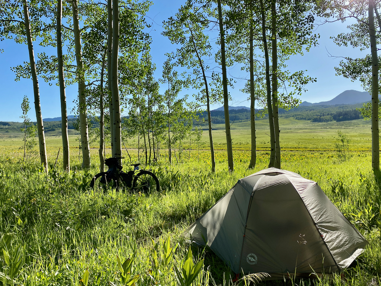 Bikepacking on the Great Divide Trail.