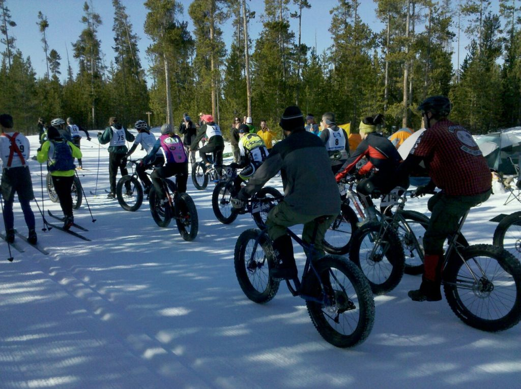 Fatbiking at the West Yellowstone Equinox Event
