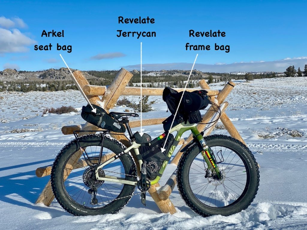 Frame bags for bike packing